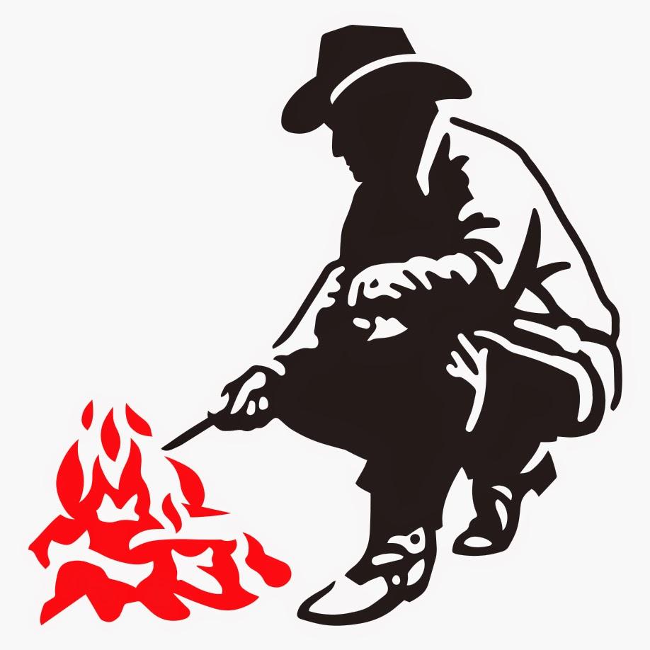 Steve V Illustration: Cowboy Campfire.