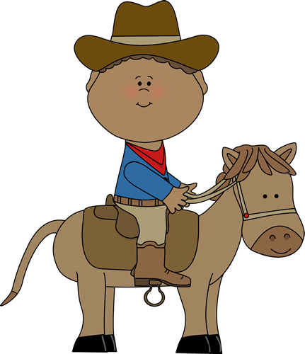 clipart of child and horse #18