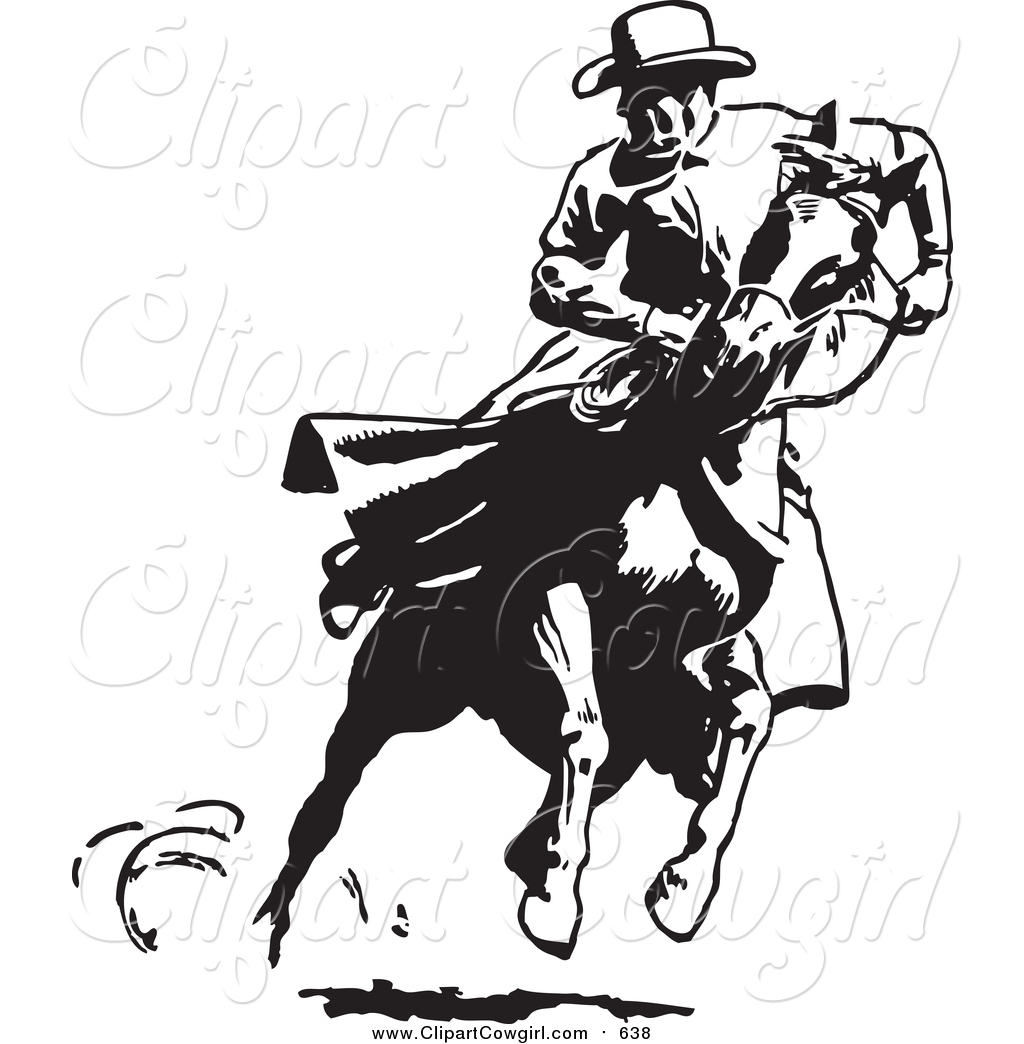Cowboy Horse Clipart Black And White.
