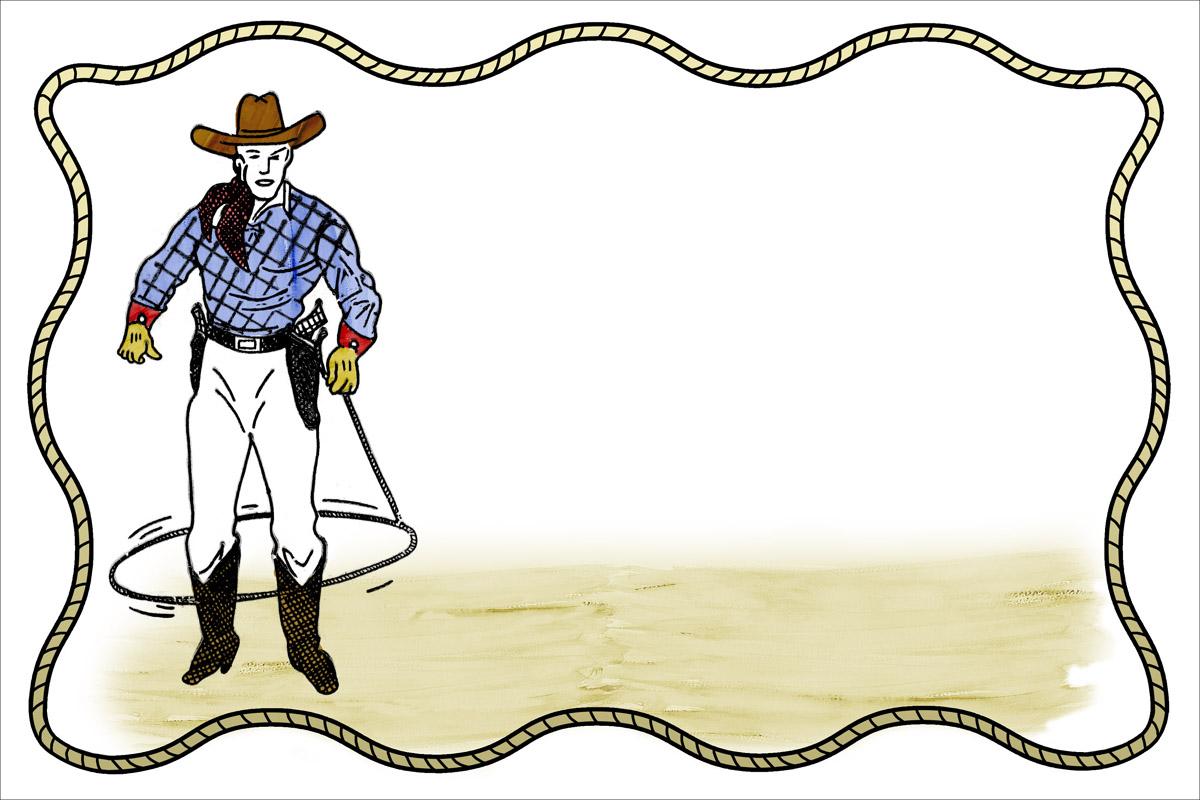 cowboy clipart borders.