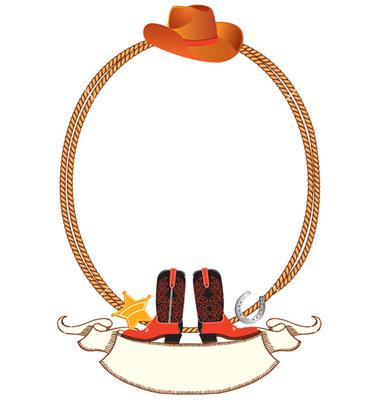 Cowboy Border Clipart.