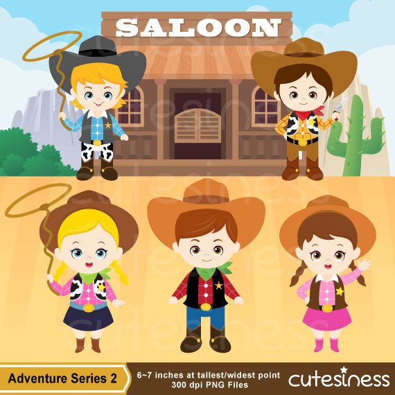 Cowboy Digital Clipart Cowboy Clipart Cowboy Clip by Cutesiness.