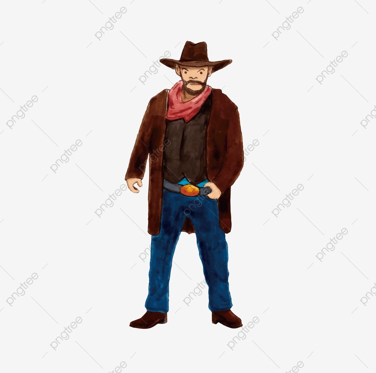 Cowboy, Cowboy Clipart, Cartoon Characters PNG Transparent Clipart.