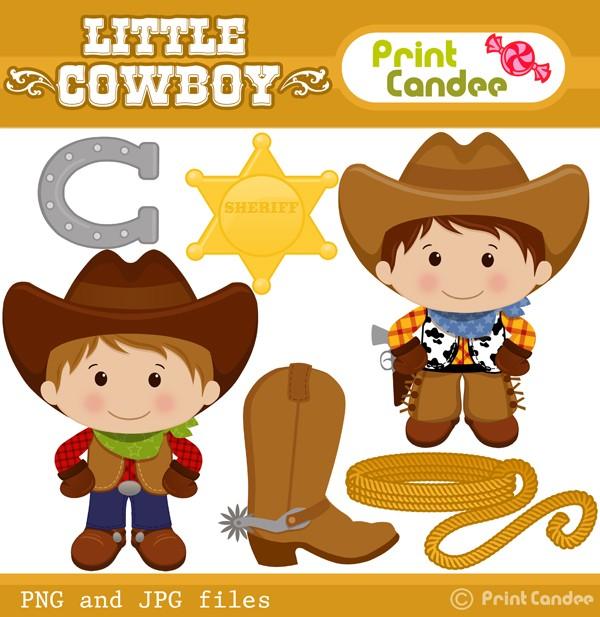 Download Little Cowboy Clipart.