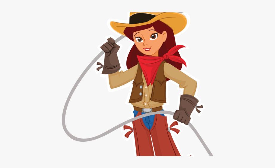 Cowboy Clipart Female.