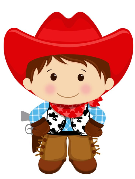 Cowboy And Kid Clipart.