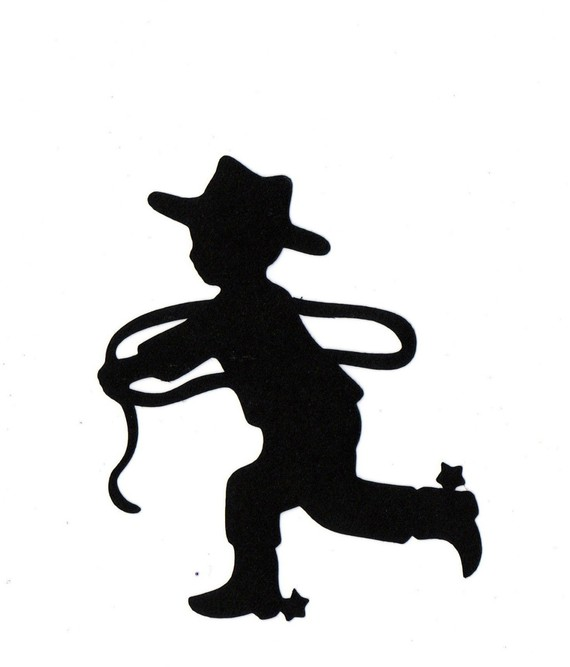 7318 Cowboy free clipart.