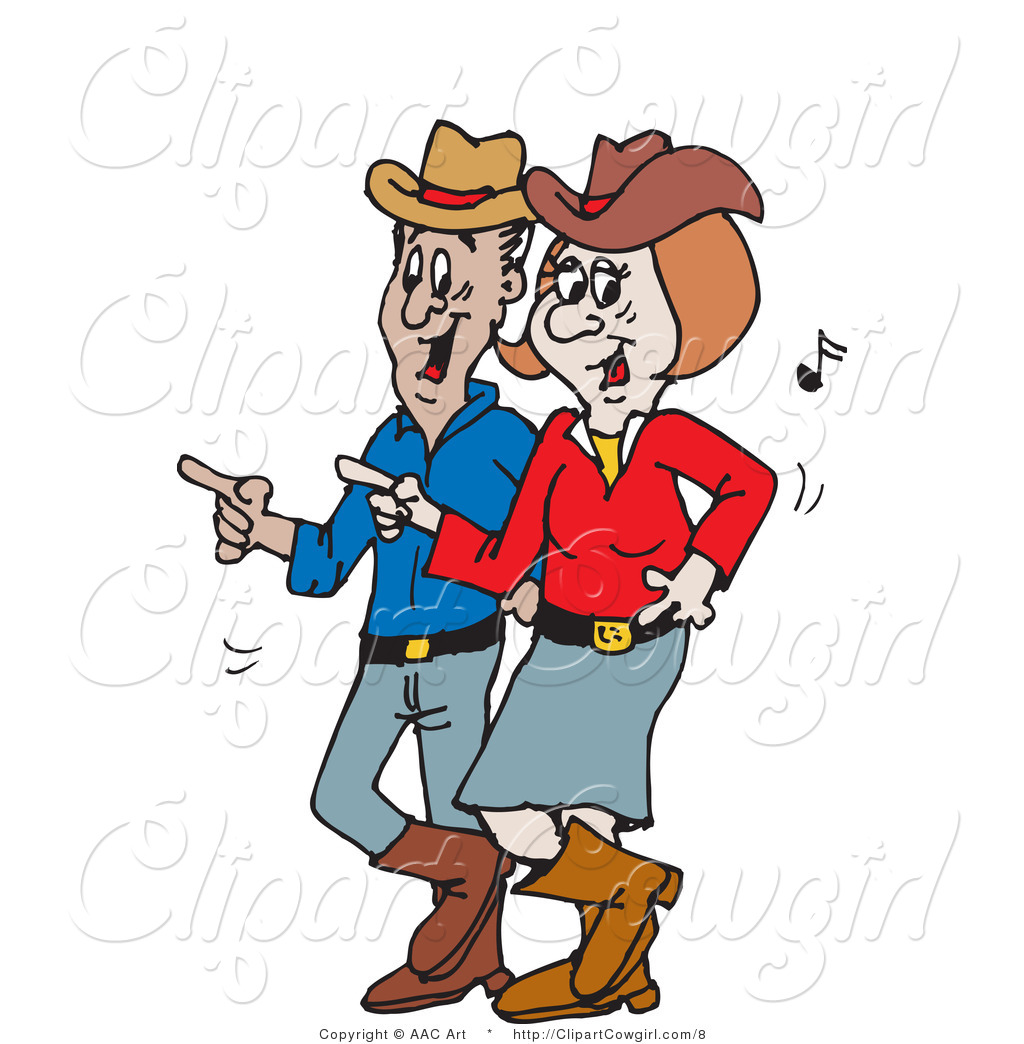 Dancing Cowboy Clipart.