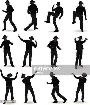 Cowboy Dancing premium clipart.