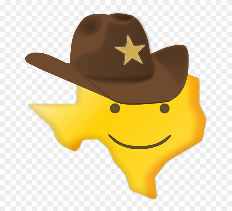 Texas Smiley Sticker.