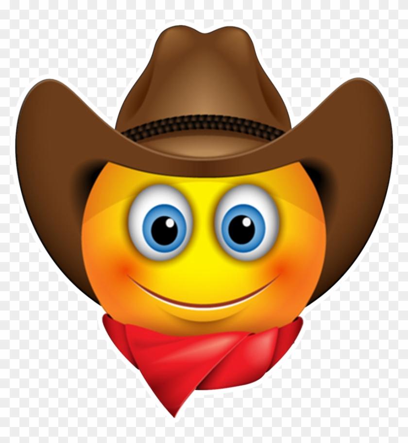Emoticon Smiley Sunglasses Cowboy Emoji Free Download.