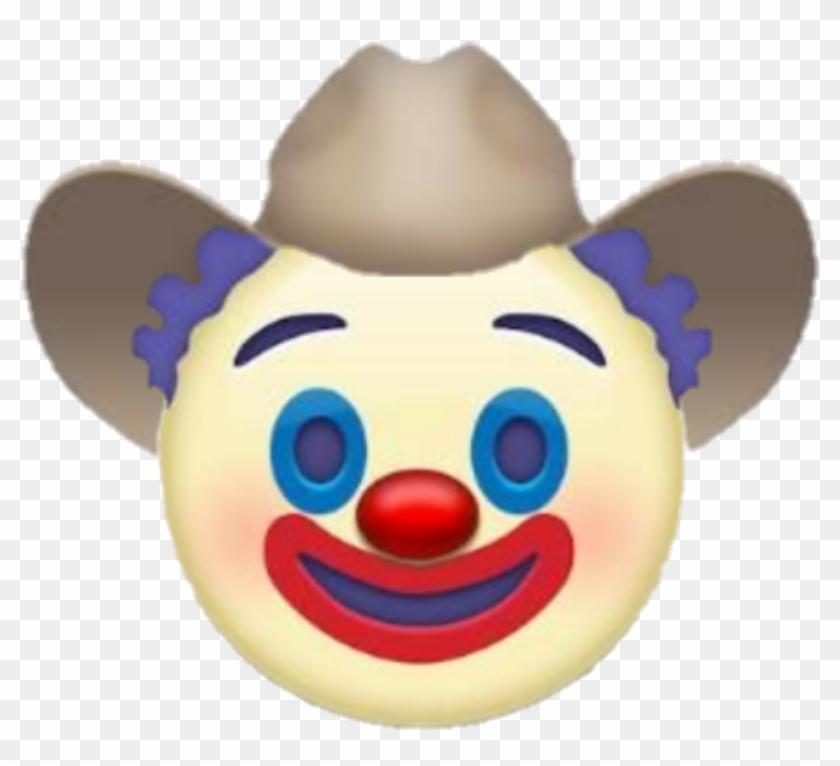 Emoji Yeehaw Yeehonk Clown Cowboy.