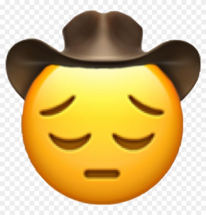Cowboy Emoji Transparent.