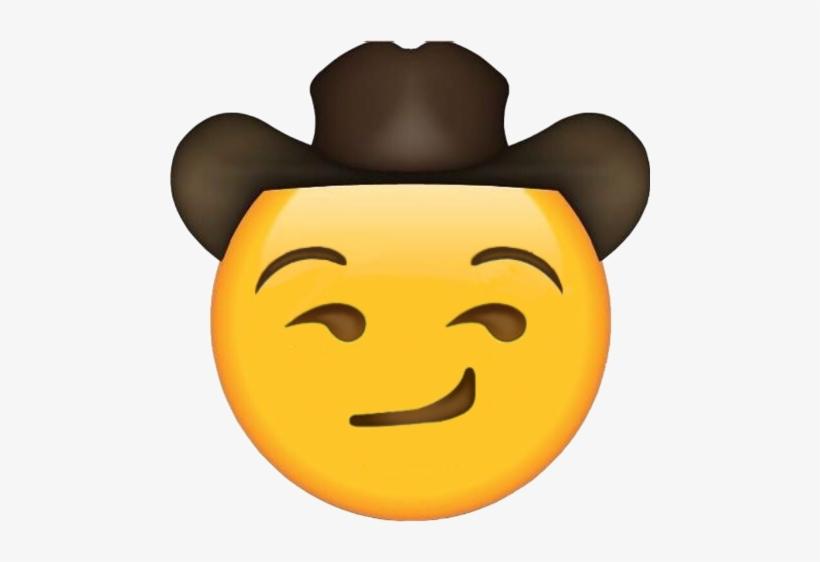 Sad Cowboy Hat Emoji Transparent PNG.