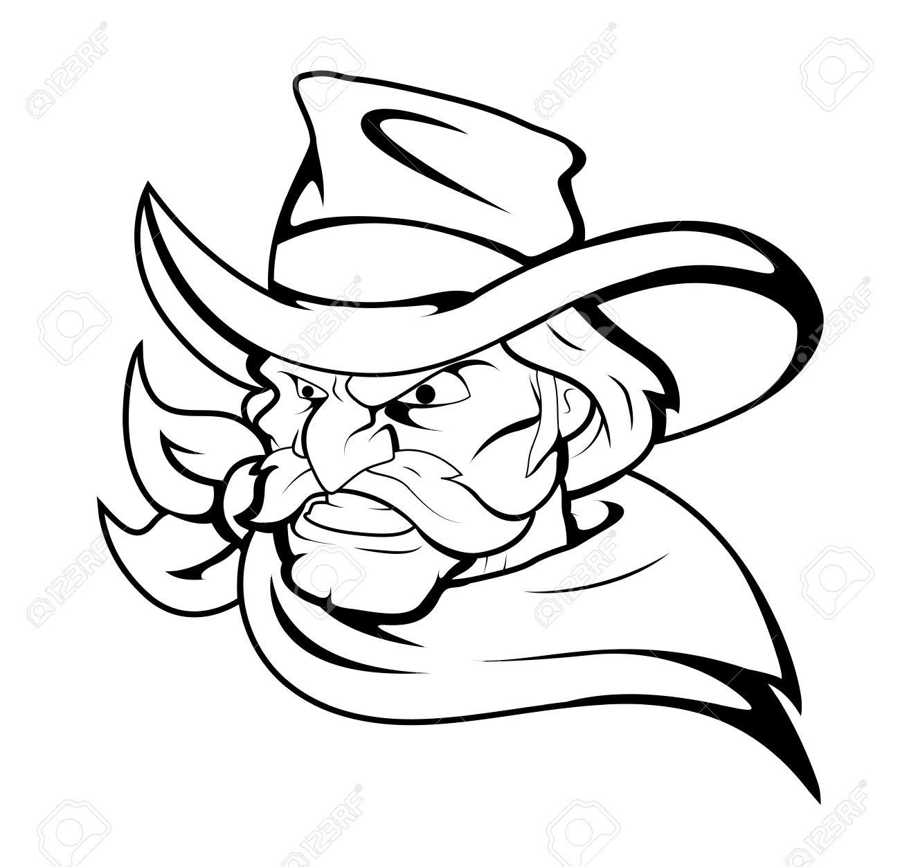 Cowboy Mascot Vector Character.