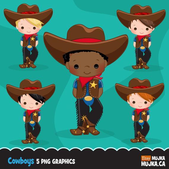 Cowboy Clipart. Wild West Cute Cowboy Clipart.
