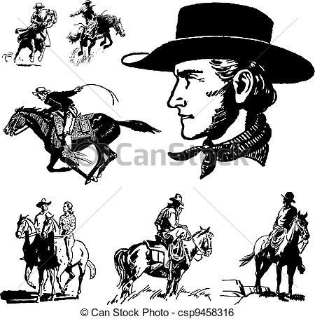 Vector Vintage Cowboy Graphics.