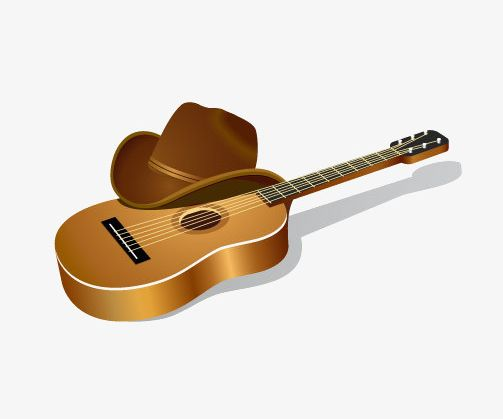 Cowboy Hat And Guitar PNG, Clipart, Cowboy, Cowboy Clipart.