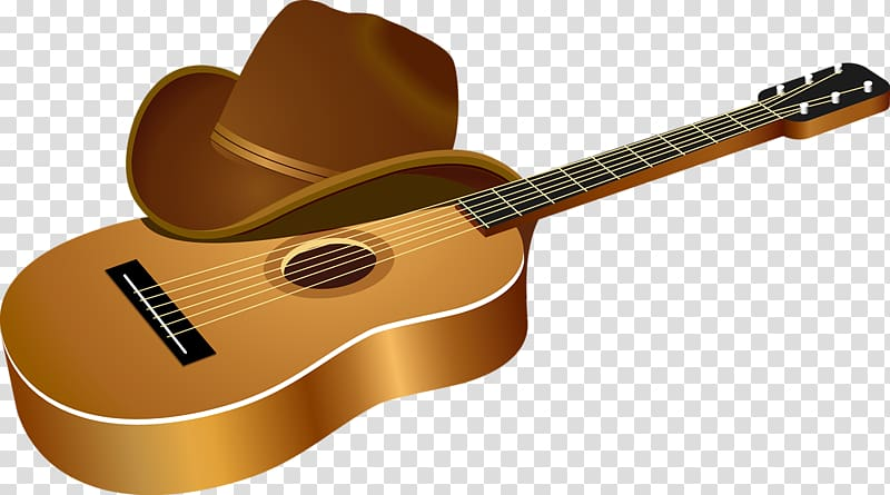 Guitar and hat , Acoustic guitar Musical instrument, Violin.