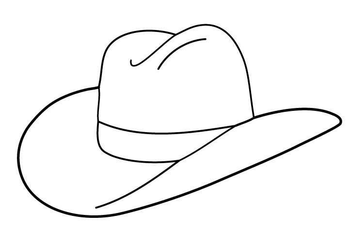 Free Cowboy boot outline.