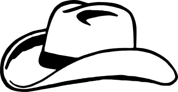 White cowboy hat clipart.