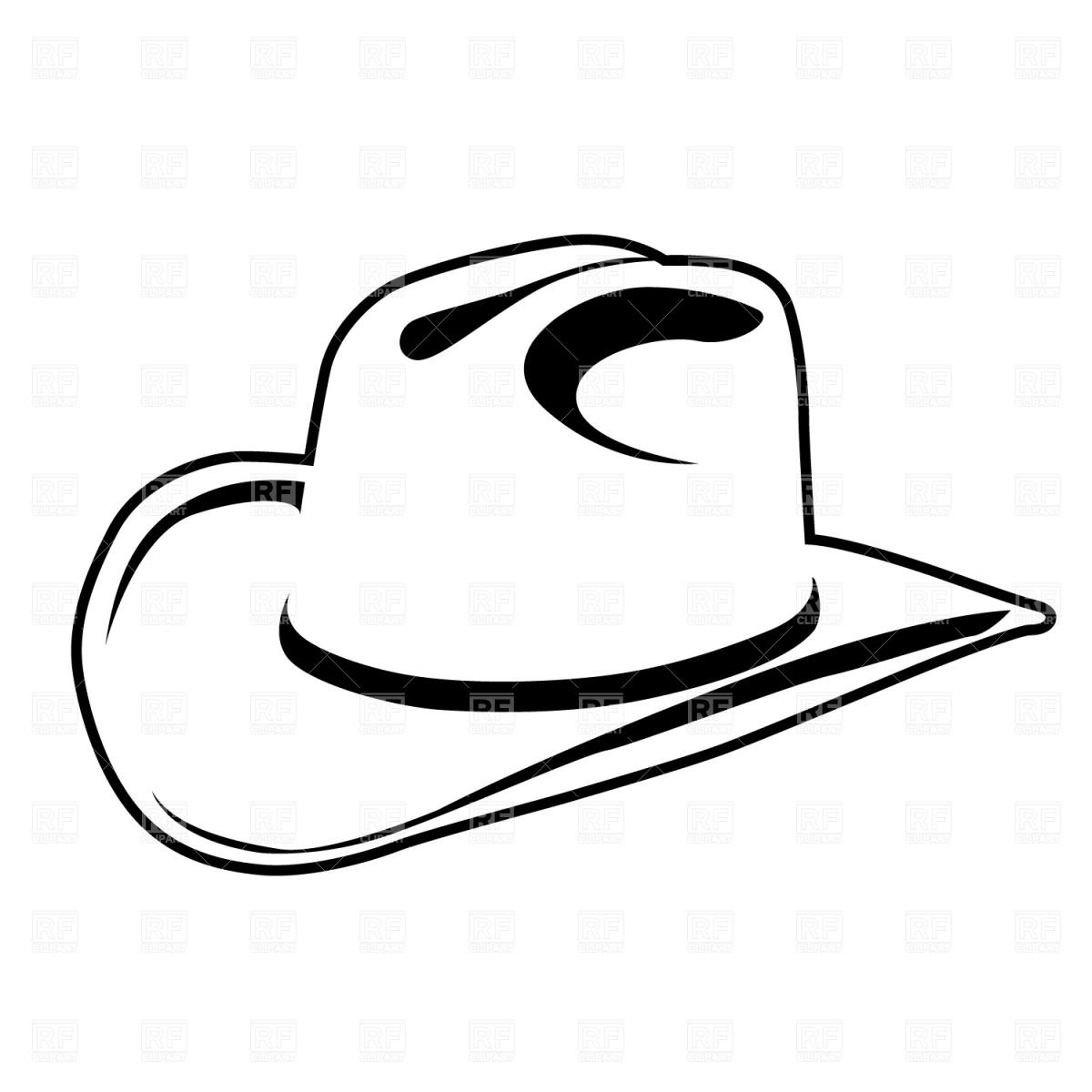 Cowboy hat clipart line art.