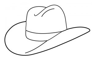 Cowboy hat clipart black and white 4 » Clipart Station.