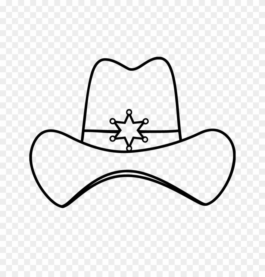 Sheriff Cowboy Hat Decal.