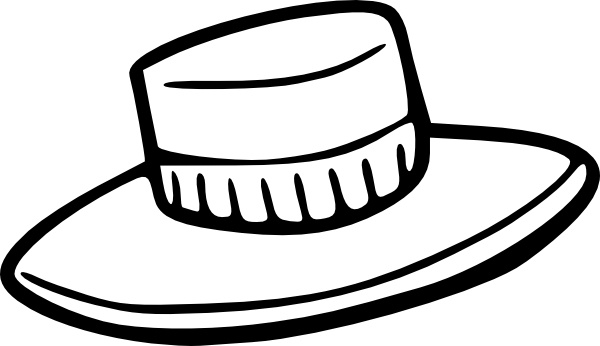 Hat Outline clip art Free vector in Open office drawing svg.