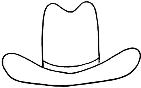 Cowboy Hat Outline.