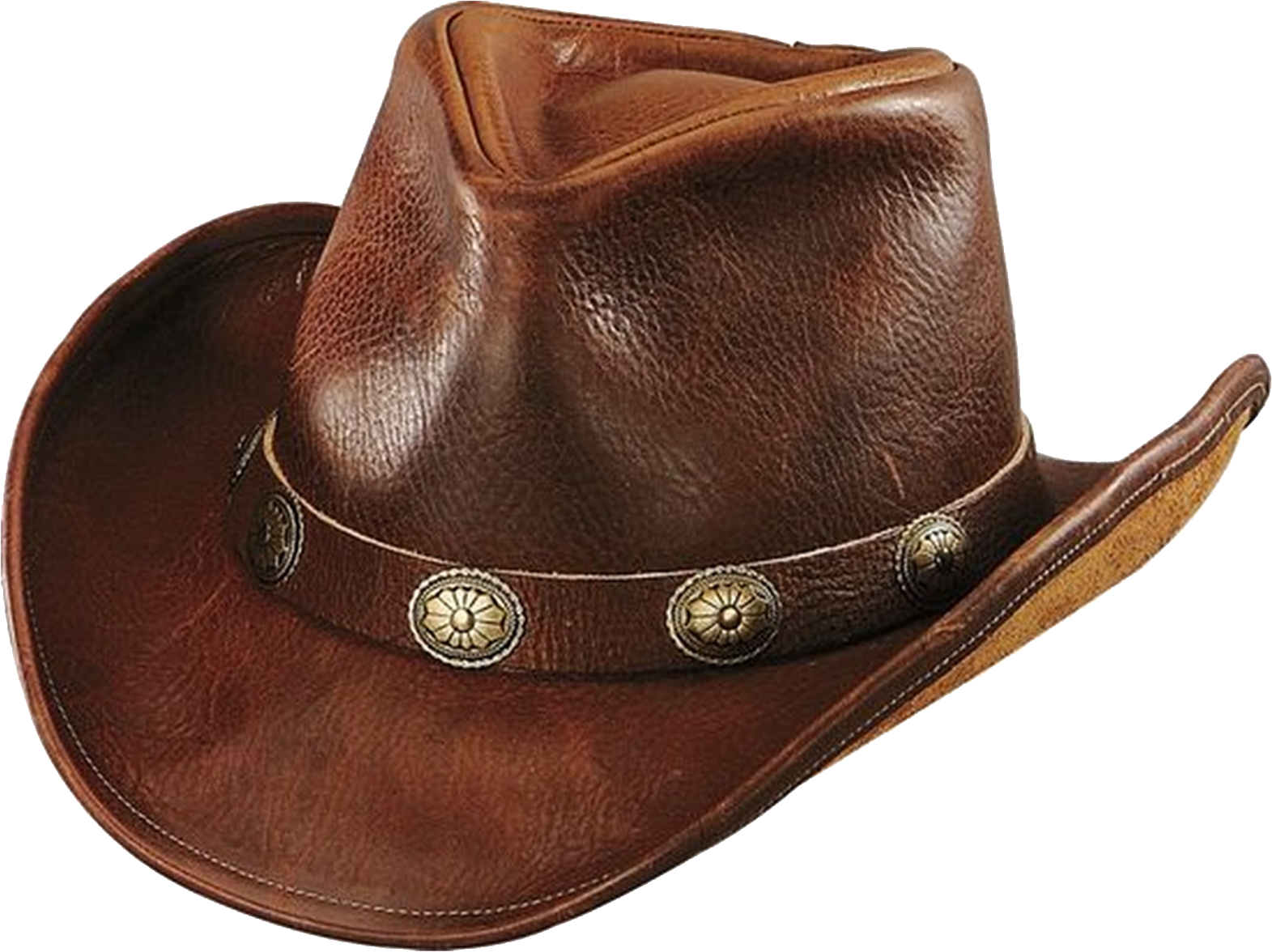Leather Cowboy Hat PNG Free Images.