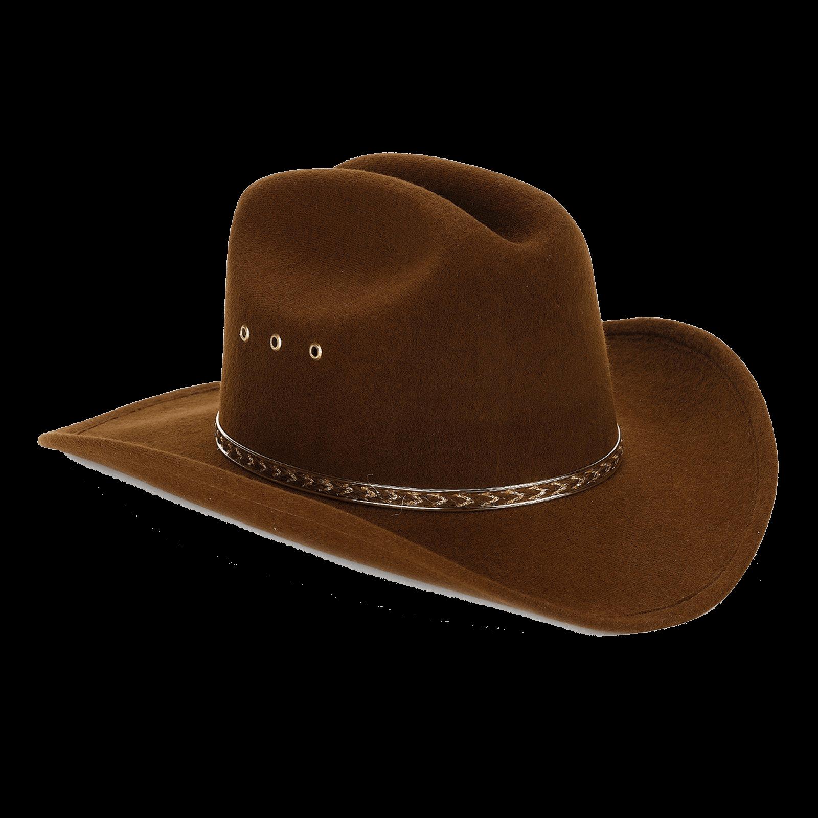 Cowboy Hat Brown Felt transparent PNG.