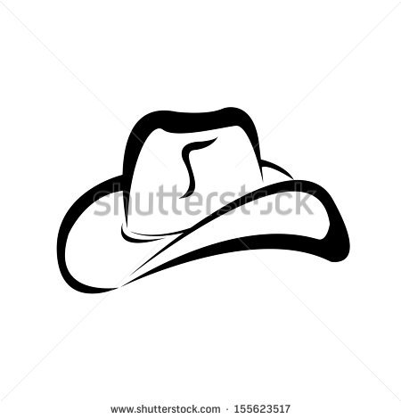 Cowboy Hat Silhouette Stock Images, Royalty.