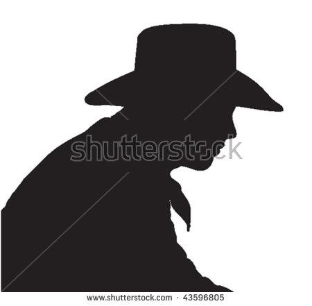 Cowboy Silhouette Vector Stock Vector 69575497.