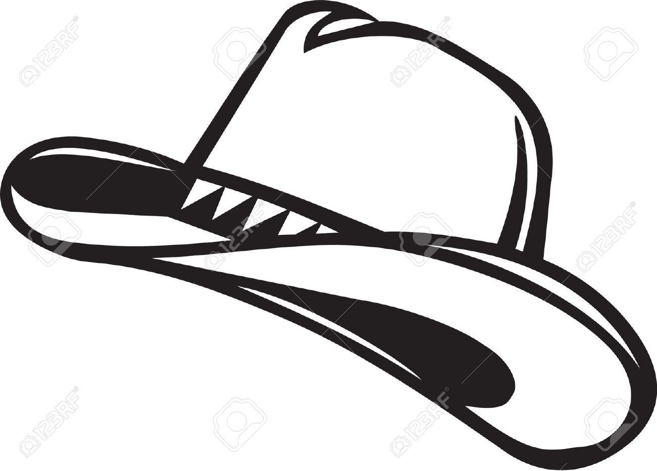 cowboy hat silhouette clipart clipground