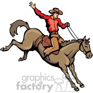 Cowboy On Horse Clipart#2127602.