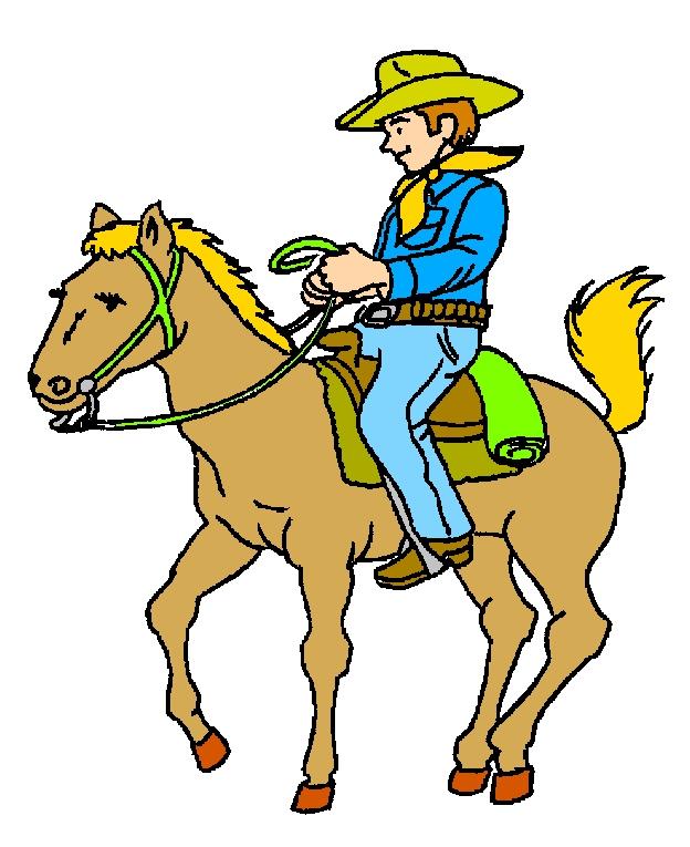 Cowboy On Horse Clipart#2127600.