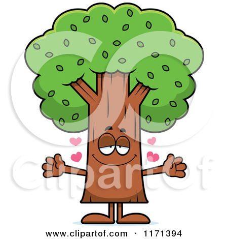 Hugging A Tree Clipart.