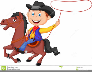 Cartoon Cowboys Clipart.