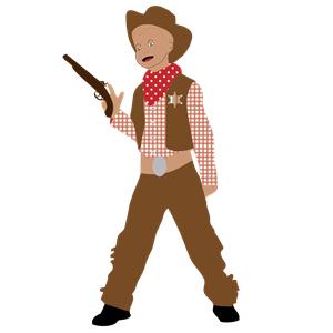 Cowboy Kid clipart, cliparts of Cowboy Kid free download (wmf, eps.