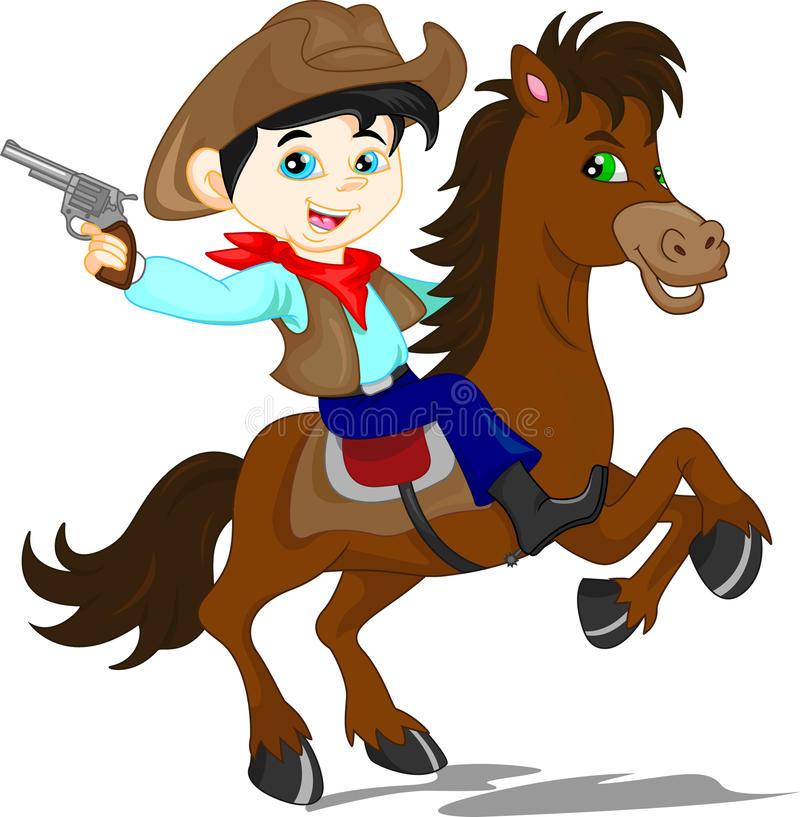 Cowboy Kid Stock Illustrations.