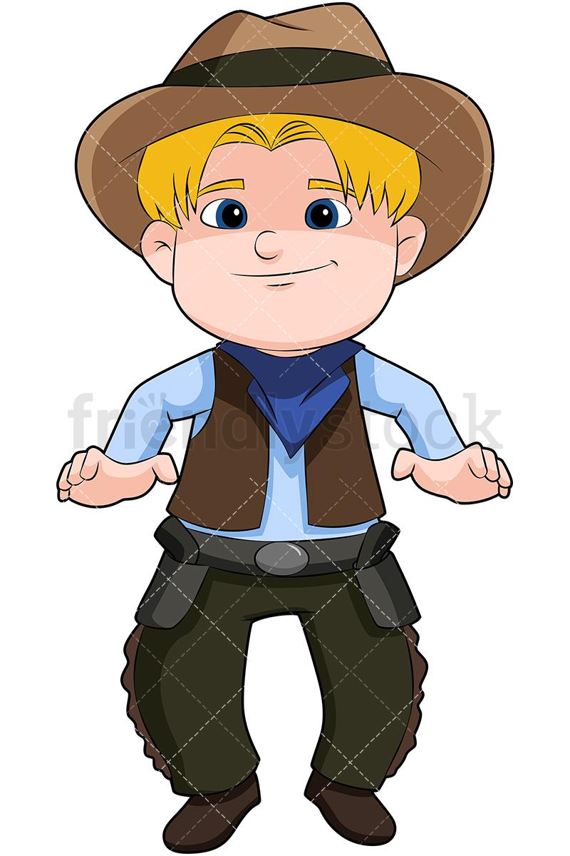 Blond Child Cowboy.