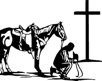 Praying cowboy.