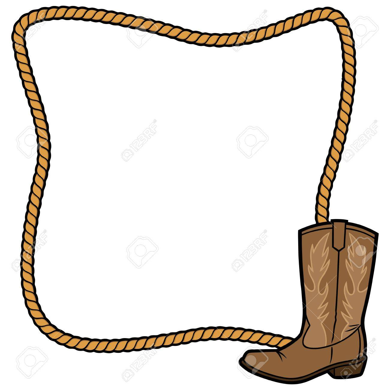 Rope Frame and Cowboy Boot.