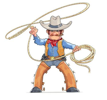 2,518 Cowboy Rope Stock Illustrations, Cliparts And Royalty Free.
