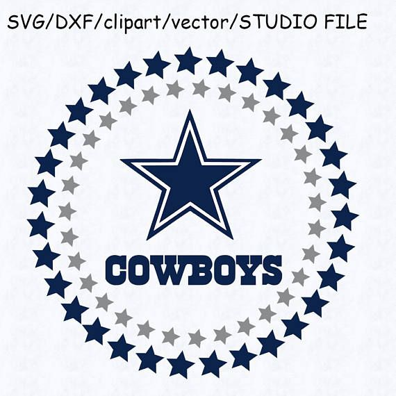dallas cowboys circle logo svg dallas cowboys logo dxf.