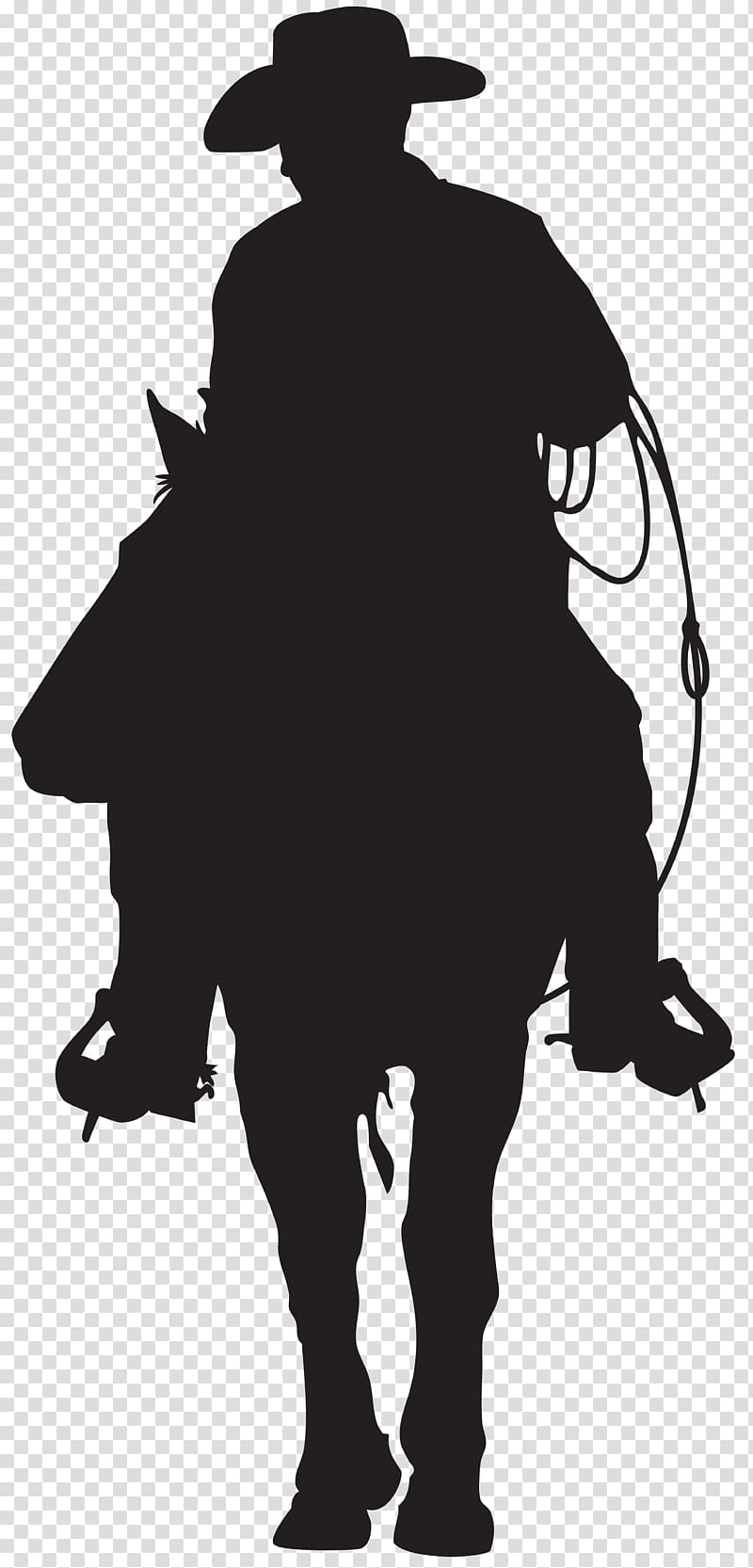 Silhouette of person ride on horse, Silhouette Cowboy.