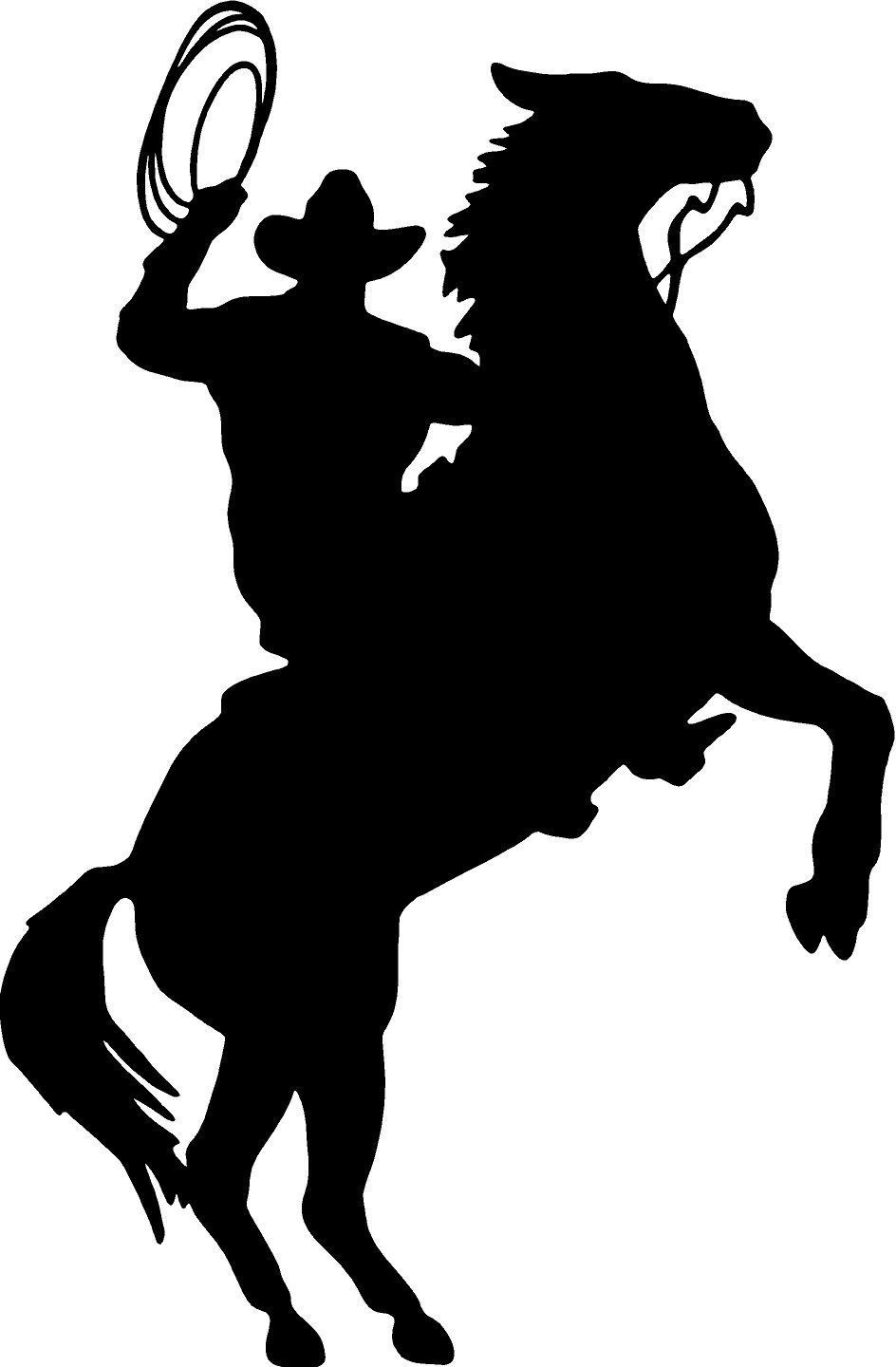 Cowboy And Horse Silhouette.