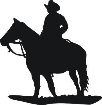 Free Western Horse Silhouette, Download Free Clip Art, Free.