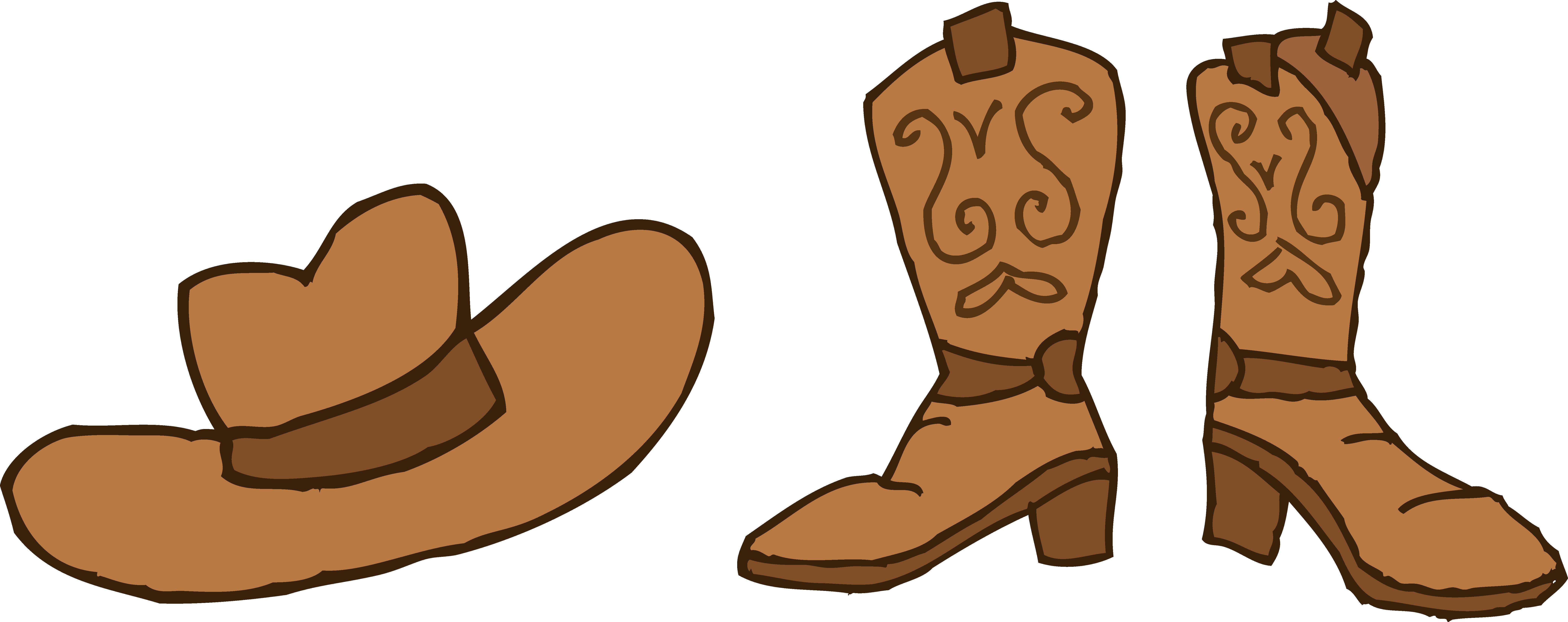 Western boots clip art.